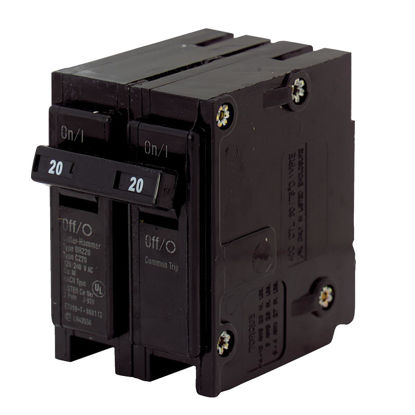 Picture of Eaton BR 20A Double-Pole Standard Trip Circuit Breaker