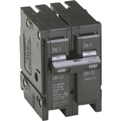 Picture of Eaton BR 100A Double-Pole Standard Trip Circuit Breaker