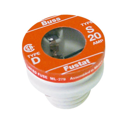 Picture of Bussmann 20A S Time-Delay Plug Fuse (4-Pack)