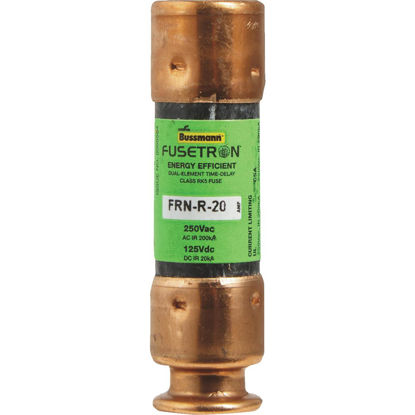 Picture of Bussmann 20A FRN-R Cartridge Heavy-Duty Time Delay Cartridge Fuse