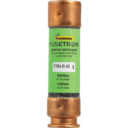 Picture of Bussmann 40A FRN-R Cartridge Heavy-Duty Time Delay Cartridge Fuse