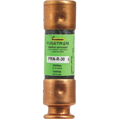 Picture of Bussmann 30A FRN-R Cartridge Heavy-Duty Time Delay Cartridge Fuse