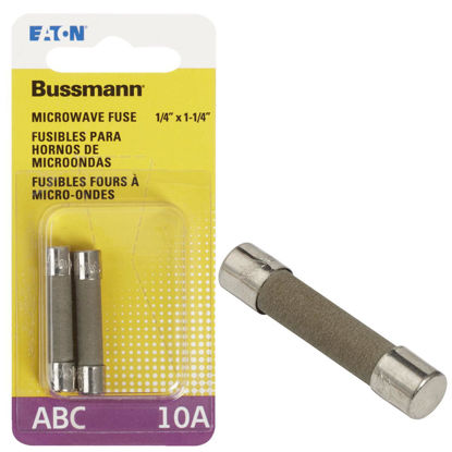 Picture of Bussmann 10A ABC Ceramic Tube Electronic Fuse (2-Pack)