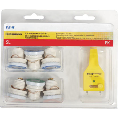 Picture of Bussmann 15A to 30A 125V SL Plug Emergency Fuse Kit