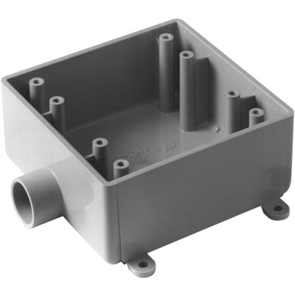 Picture of Carlon 2-Gang PVC Molded Rigid Non-Metallic Dead-End Termination Wall Box