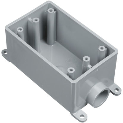 Picture of Carlon 1-Gang PVC Molded Rigid Non-Metallic Dead-End Termination Wall Box