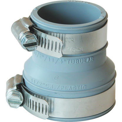 Picture of Fernco Flexible 1-1/2 In. x 1-1/2 In. or 1-1/4 In. PVC Drain and Trap Connector