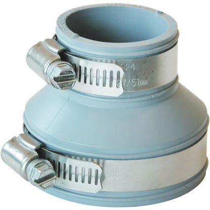Picture of Fernco Flexible 2 In. x 1-1/2 In. PVC Drain and Trap Connector