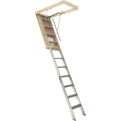 Picture of Louisville Elite 7 Ft. 8 In. to 10 Ft. 3 In. 22-1/2 In. x 54 In. Aluminum Attic Stairs
