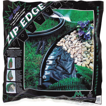 Picture of Master Mark Zip Edge 1 In. H. x 20 Ft. L. Black Recycled Plastic Lawn Edging
