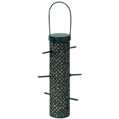 Picture of C&S Nugget Green Wire Tube Bird Feeder