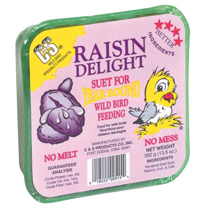 Picture of C&S 13.5 Oz. Raisin Delight Suet