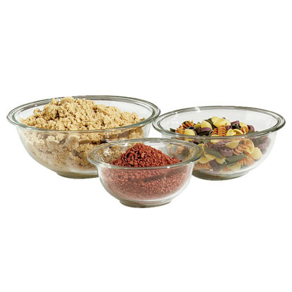 Picture of Pyrex Prepware Glass Mixing Bowl Set (3-Piece)