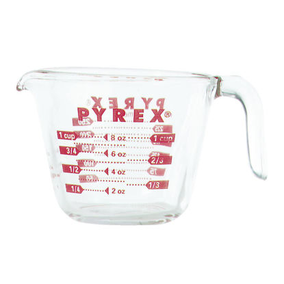 Picture of Pyrex Prepware 1 Cup Clear Glass Measuring Cup