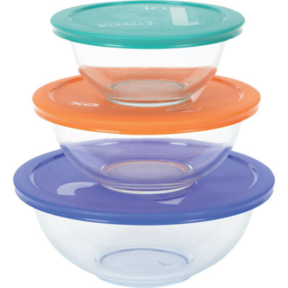 Picture of Pyrex Smart Essentials Covered Glass Pyrex Bowl Set (6-Piece)