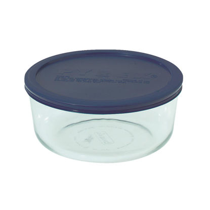 Picture of Pyrex Simply Store 7-Cup Round Glass Storage Container with Lid