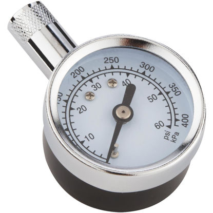 Picture of Custom Accessories 5-60 Psi Chrome-plated Tire Gauge