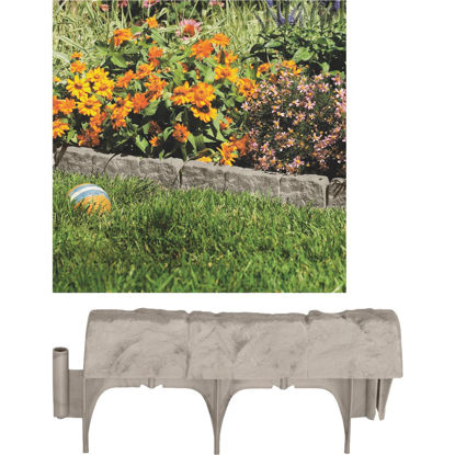 Picture of Suncast 6 In. H. x 12 In. L. Border Stone Poly Lawn Edging (10-Pack)
