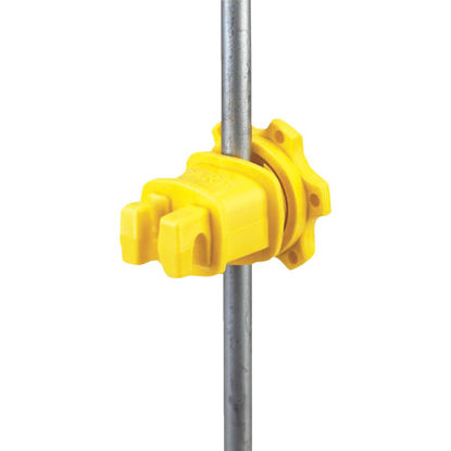 Picture of Dare Screw-On Yellow Polythylene Electric Fence Insulator (25-Pack)