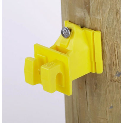 Picture of Dare Snug Snap-In Yellow Polyethylene Electric Fence Insulator (25-Pack)