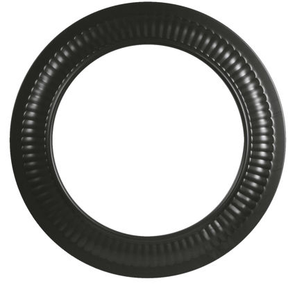 Picture of Imperial Single Wall 8 In. 24 ga Black Stove Pipe Collar