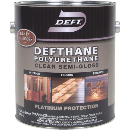 Picture of Deft Defthane Semi-Gloss Clear Interior/Exterior Polyurethane, 1 Gal.