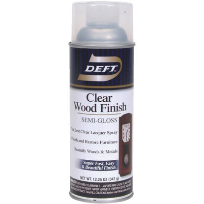 Picture of Deft 12.25 Oz. Semi-Gloss Clear Wood Finish Interior Spray Lacquer