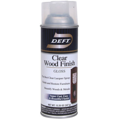 Picture of Deft 12.25 Oz. Gloss Clear Wood Finish Interior Spray Lacquer