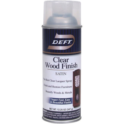 Picture of Deft 12.25 Oz. Satin Clear Wood Finish Interior Spray Lacquer