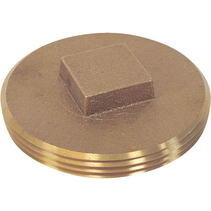 Picture of Jones Stephens 4 In. Brass Cleanout Drain Plug