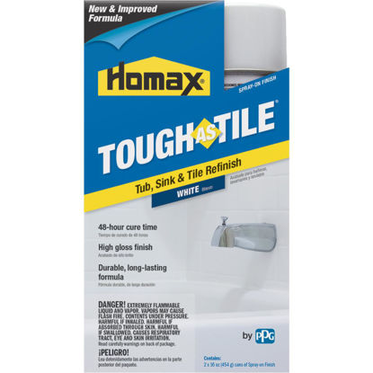 Picture of Homax Tough as Tile 16 Oz. White High Tub & Tile Spray Paint Finish (2-Pack)