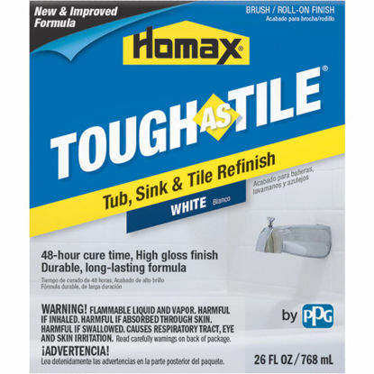 Picture of Homax Tough As Tile 26 Oz. White Tub, Sink, and Tile Finish