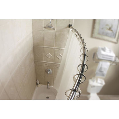 Picture of Moen Curved 54 In. To 72 In. Adjustable Fixed Shower Rod in Chrome