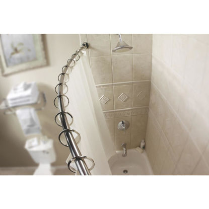 Picture of Moen Curved 54 In. To 72 In. Adjustable Fixed Shower Rod in Brushed Nickel