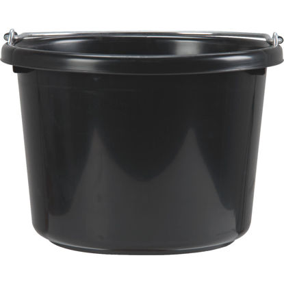 Picture of Little Giant Duraflex 8 Qt. Black Poly Bucket