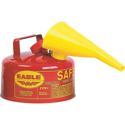 Picture of Eagle 1 Gal. Type I Galvanized Steel Gasoline Safety Fuel Can, Red