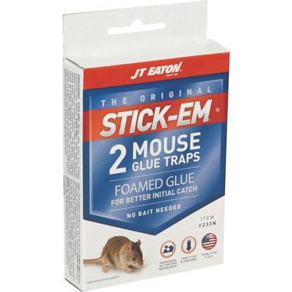 Picture of JT Eaton Stick-Em Peanut Butter Scented Glue Mouse Trap (2-Pack)