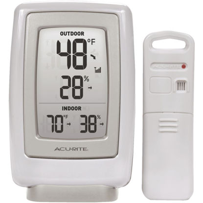"Picture of Acurite 3-1/2"" W x 5-1/2"" H Plastic Wireless Indoor & Outdoor Thermometer"