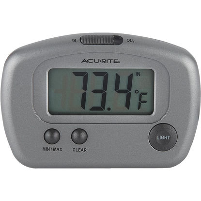 "Picture of Acurite 2-3/4"" W x 3-1/8"" H Plastic Digital Indoor & Outdoor Thermometer"