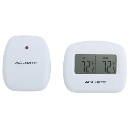 "Picture of Acurite 2-1/2"" Receiver, 2-1/2"" Sensor  Wireless Indoor & Outdoor Thermometer"