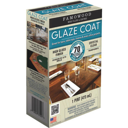 Picture of FAMOWOOD GLAZE COAT 16 Oz. High-Gloss Pour On Finish