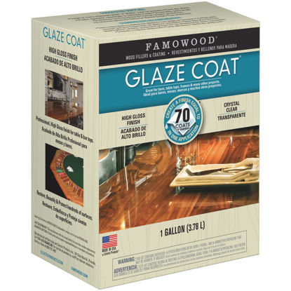 Picture of FAMOWOOD GLAZE COAT 128 Oz. High-Gloss Pour On Finish