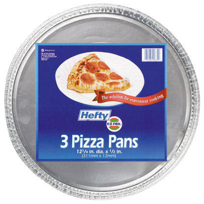Picture of Hefty Aluminum Foil 12-1/4 In. Pizza Pan (3-Pack)