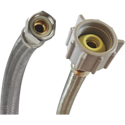 """Picture of Fluidmaster 3/8"""" Comp x 7/8"""" Ballcock x 9"""" L Braided Stainless Steel Toilet Connector"""