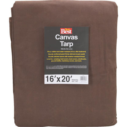 Picture of Do it Best 10 Oz. 16 Ft. x 20 Ft. Canvas Tarp