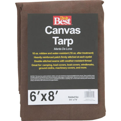 Picture of Do it Best 10 Oz. 6 Ft. x 8 Ft. Canvas Tarp