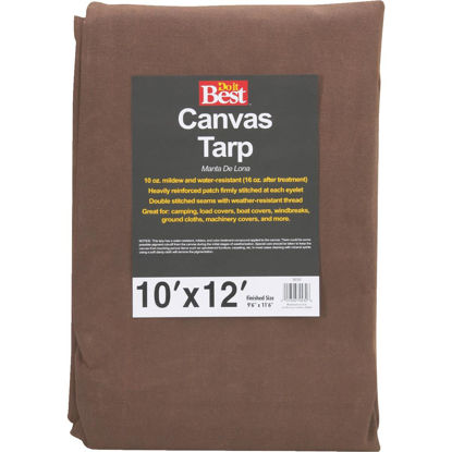 Picture of Do it Best 10 Oz. 10 Ft. x 12 Ft. Canvas Tarp