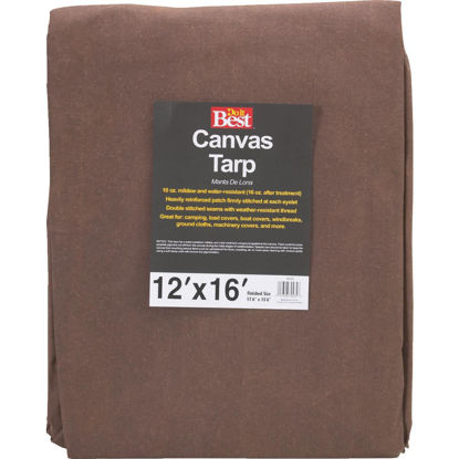 Picture of Do it Best 10 Oz. 12 Ft. x 16 Ft. Canvas Tarp