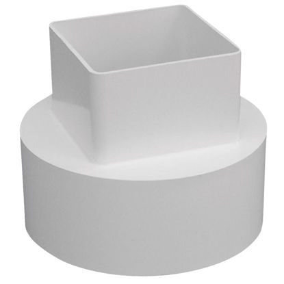 Picture of Genova RainGo 4 In. White Downspout Adapter