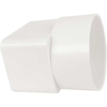 Picture of Genova 2 In. X 3 In. X 3 In. White Styrene Downspout Adapter